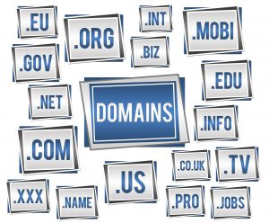 Domain name registration with various top level domains